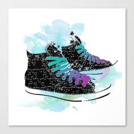Run through Colours Canvas Print