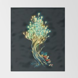 ElectriciTree Throw Blanket