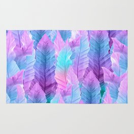 Mermaid Colored Leaves Vibes #1 #decor #art #society6 Rug