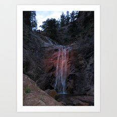 A Summer Waterfall Art Print