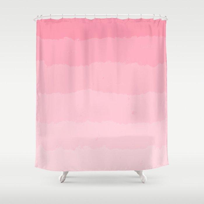 Light Pink Cloud Layers Shower Curtain