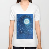 starry night V-neck T-shirts featuring Starry Night by maggs326