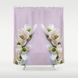 Snowdrops - First Spring Flowers Shower Curtain