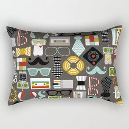 Quirky Robots Rectangular Pillow