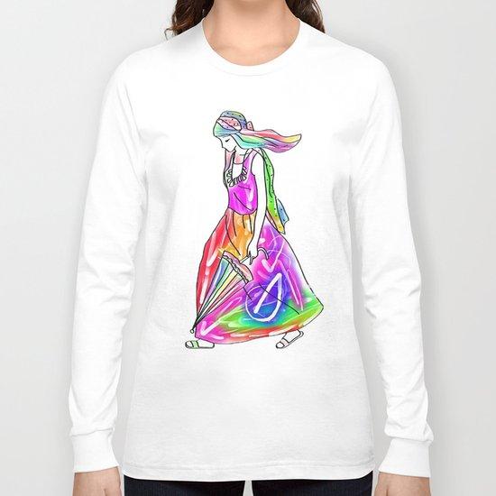 Rainbow Girl Long Sleeve T-shirt