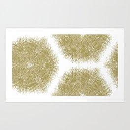 Fiber Mandalas I Art Print