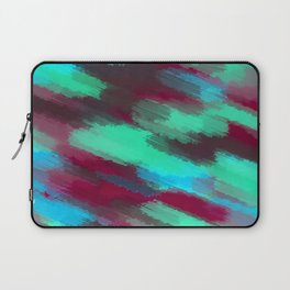 green blue red and brown painting texture abstract background Laptop Sleeve