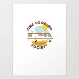 Cooking Society Art Print