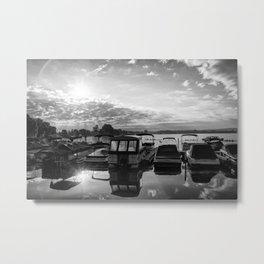 Sunrise at the Pier , Canandaigua Lake Metal Print
