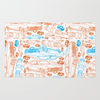 cars Area & Throw Rugs featuring Cars, cars, cars by rebecca miller