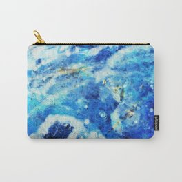 Blue and gold marble texture Carry-All Pouch