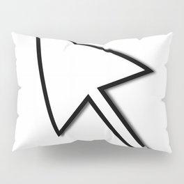 Cursor Arrow Mouse Black Line Pillow Sham