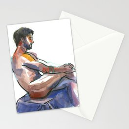 NATE, Nude Male by Frank-Joseph Stationery Cards