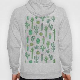Cactus Pattern White Hoody