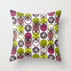 Black Border Abstract Circles Throw Pillow
