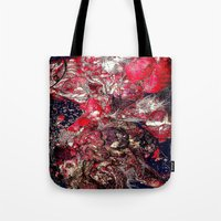 carnage Tote Bags featuring Carnage by Jeni Decker
