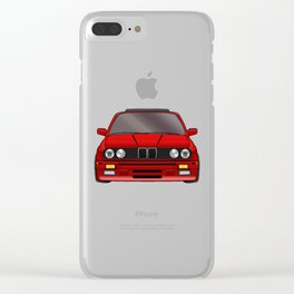 M3 E30 Red Clear iPhone Case