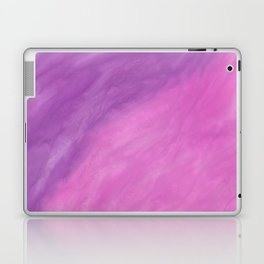Abstract modern pink violet watercolor paint Laptop & iPad Skin