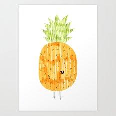 EAT YOUR FRUIT! // PINEAPPLE Art Print