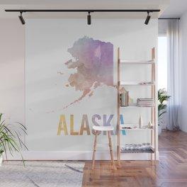 Watercolor State - AK Wall Mural