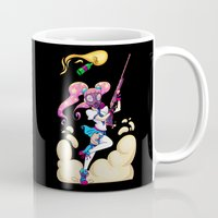 magical girl Mugs featuring Riot Magical Girl by Thais Magnta Canha