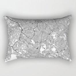 Sao Paulo White Map Rectangular Pillow