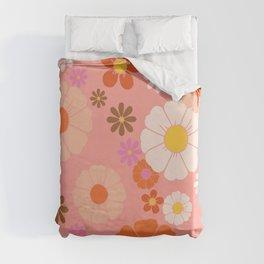 Groovy 60's Mod Flower Power Duvet Cover