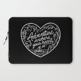 Adventure is where your heart is BW Laptop Sleeve