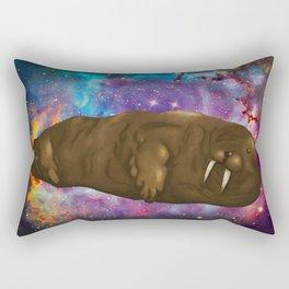 Space Walrus Rectangular Pillow