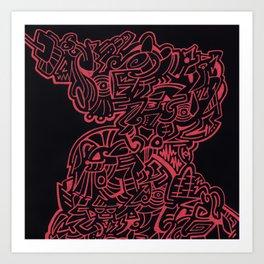Headbrain Art Print