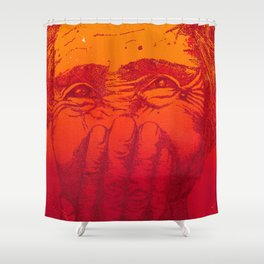 Thin line between laughter and tears Shower Curtain
