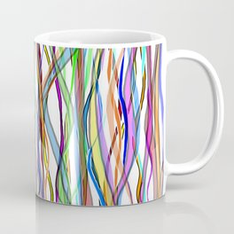 Multiplied Parallel Lines - Colored Coffee Mug