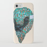 bison iPhone & iPod Cases featuring Bison by ejvozzola