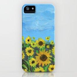 Sunflower Field iPhone Case