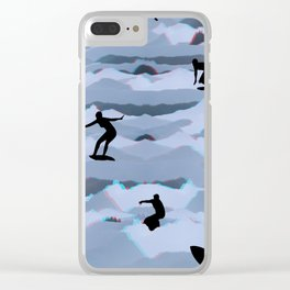 Surf + Turf Clear iPhone Case
