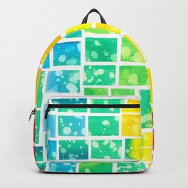 Rainbow squares Backpack