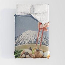 Fuji, Sumo, Ramen // Japan Love Duvet Cover