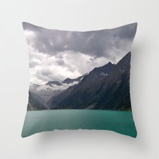 Schlegeis Lake, Austria | Panorama Throw Pillow