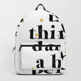 Darling / Poster, scandinavian, art print, drawings, paintings, pattern, illustration, marble, gold Backpack