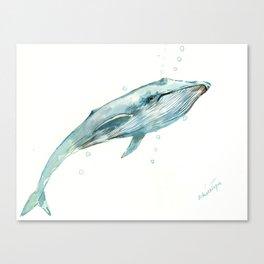 Whale in the OCean Canvas Print