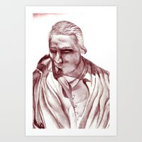 actor Art Prints featuring 1898 Stage actor by seb mcnulty