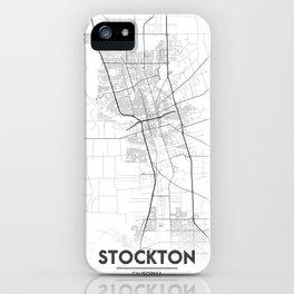 Minimal City Maps - Map Of Stockton, California, United States iPhone Case