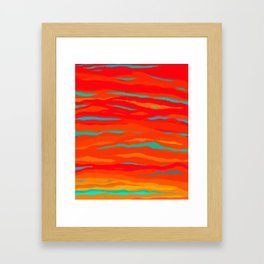 Ripped Turquoise Sunset Sky Framed Art Print