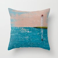 yin yang Throw Pillows featuring YIN YANG by Olga Krokhicheva