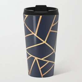 Copper and Midnight Navy Metal Travel Mug