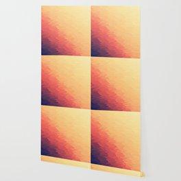 Orange Peach Ombre Wallpaper