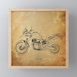 231-2019 F850GS original motorcycle artwork Framed Mini Art Print