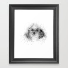 Dog Line Framed Art Print