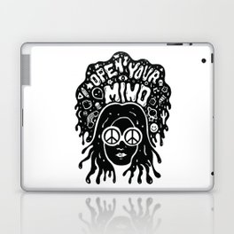Open Your Mind in black Laptop & iPad Skin