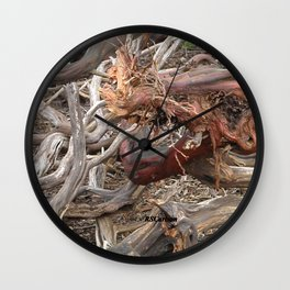 TEXTURES - Manzanita Drought Conditions #4 Wall Clock